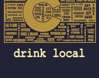 Drink Local- Colorado Beer T-shirt