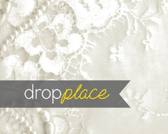 Backdrop Wedding Drops White Lace Pearls Background Floor Drop Bridal Photo Booth Photo Prop (Multiple Sizes Available)