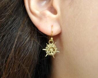 Spumellaria Radiolarian Earrings - Plankton - Marine Biology Gift-Science Jewelry - Naturalist Jewelry-Ernst Haeckel Art - Scientist Jewelry