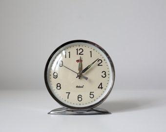 Vintage alarm clock, Mebus clock with alarm function, alarm clock, made in Germany, Aufziehbar, mechanical watch
