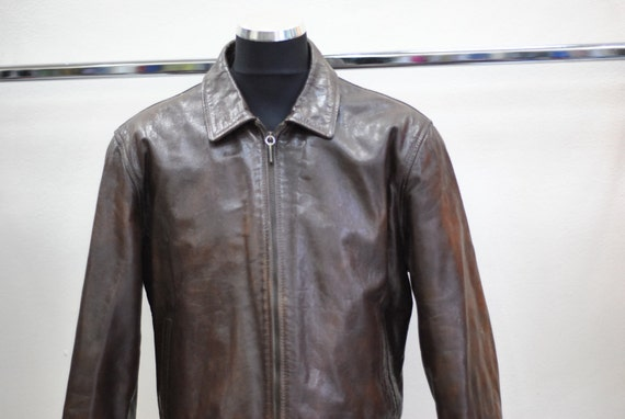 Vintage BEN SHERMAN leather jacket made by DUSEMATADOR ...(075) O7x5piD