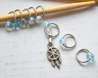 Knitting Stitch Marker Set - Dreamcatcher / Snag Free / Small Medium Large Sizes Available
