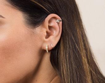Small gold hoops - Small hoop earrings - Huggie hoops - Gold huggie hoops - Huggie hoop earrings - Tiny gold hoops - Dainty hoops