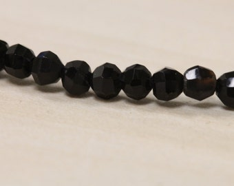 Faceted Black Onyx Beads #ET107