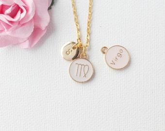 Virgo Zodiac Sign Astrology Necklace, Virgo necklace, star sign necklace, star sign necklace, august and september birthday / GFDISCVIRGO