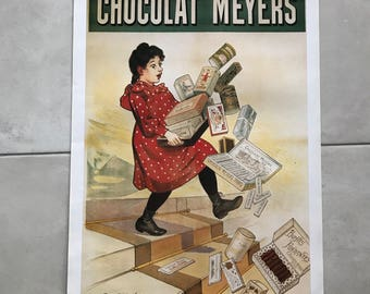 Vintage French Poster for chocolate MEYERS 1701189