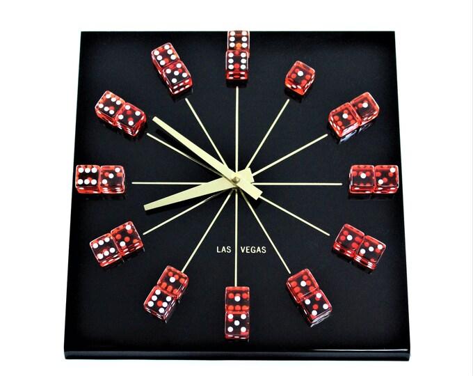 Vintage Las Vegas Dice Clock
