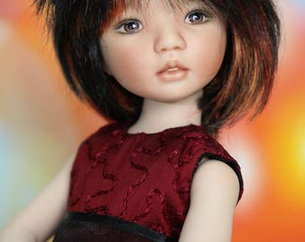 "Leah - a 12"" all porcelain doll sculpted by Dianna Effner"