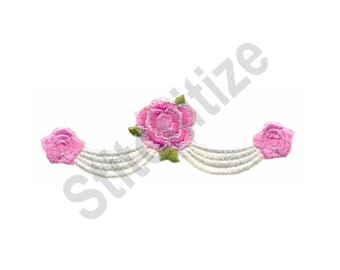Rose Swag - Machine Embroidery Design, Roses, Flowers