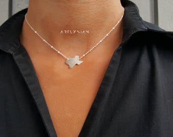 Texas map necklace, Texas necklace, Texas pendant, State map charm, Texas map pendant, silver Texas map tone, I love Texas, Map of Texas new
