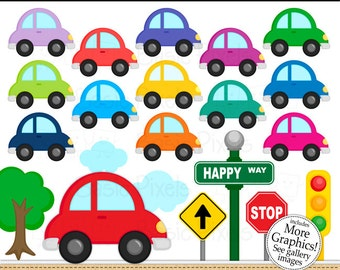 Car Clipart - Digital Clip Art - Cars - Personal and commercial use