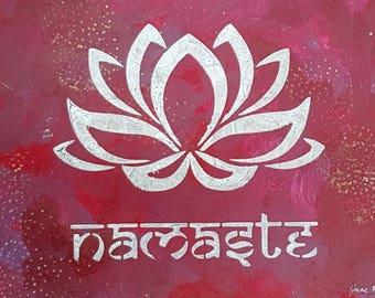 inspiration - Namaste red