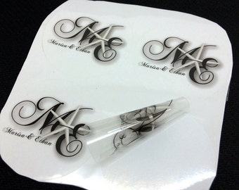 100 Custom clear stickers, clear glass sticker, Transparent Sticker, clear decals