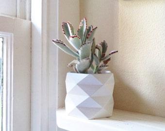 "Geometric planter, 3"" planter, hexagon"