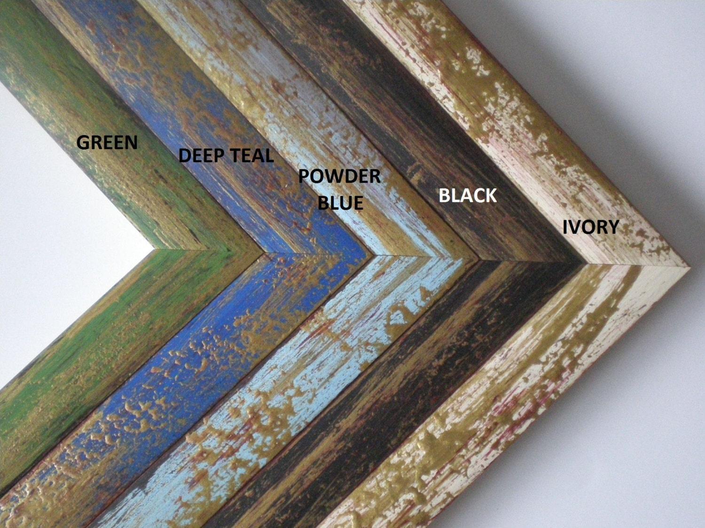 Schwarz Frame A4 Rahmen schwarz farbiges Bild schwarz Frame