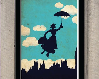 Vintage Disney movie poster - Mary Poppins