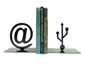 At Symbol & USB Bookends
