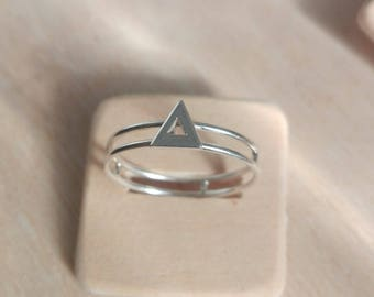 Triangle Silver Ring