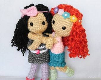 Curly Me Amigurumi Doll, Personalized Doll, Crochet Doll