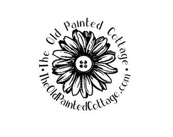 customized Daisy with button center Rubber Stamp