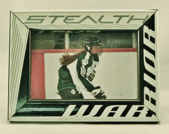 4 x 6 Hockey Stick Frame - FREE SHIPPING in US  (#6305)