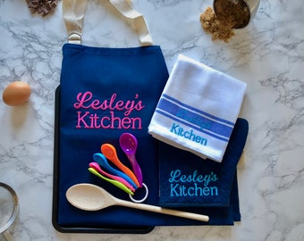 Ultimate Personalised Embroidered Baking Gift Set | Baking Gift Set | Kitchen Gift Set | Embroidered Gift Set | Foodie Gift | Gifts for Mum