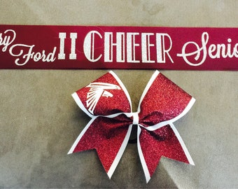 Bow & 2 Color SASH for Seniors or Homecoming
