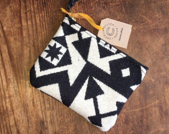 PNW Wool zipper pouch