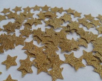 1000 gold glitter mini stars confetti wedding party