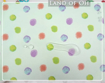 Waterproof Fabric Pastel Dots per Yard WM