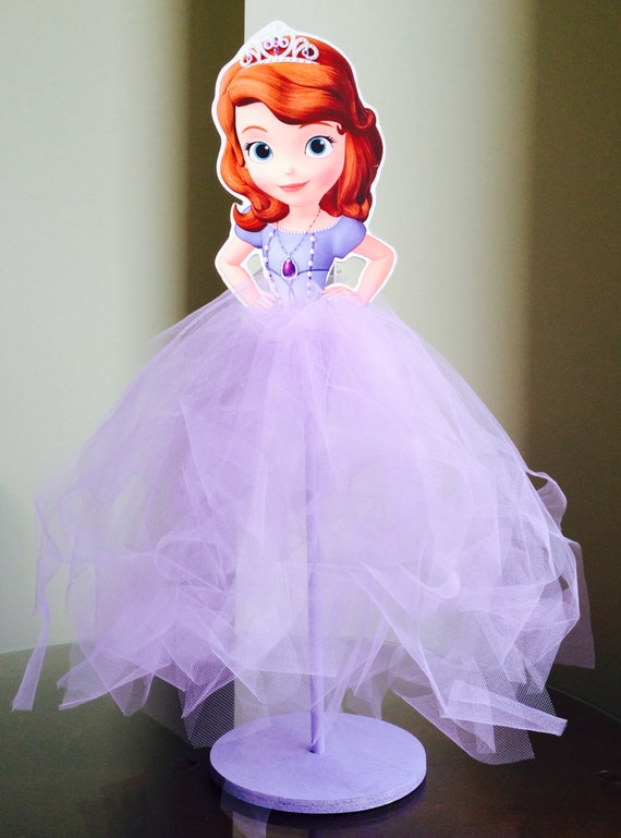 Items similar to Sofia the First Wood Centerpiece with Tutu for ...