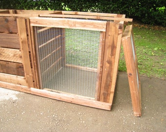 Leaf Mould Bin Add-On Extension For Compost Bins/Slide-out Front Panel For Easy Access