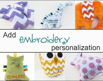 Add Embroidery Personalization to Your Plush Animal Custom Personalized Stuffed Animal