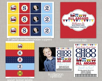 Train Birthday Party, Train Birthday Decorations, Train Party, Choo Choo Train, Printable