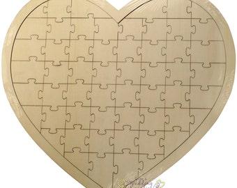 Wedding Heart Shaped Wooden Jigsaw Guest Book Alternative Reception Decorations Supplies