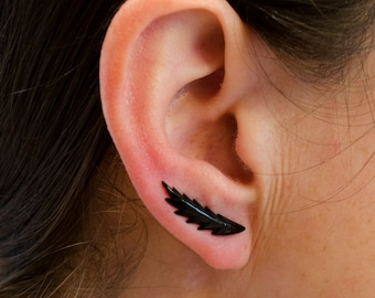 Ear Cuff Earrings Shooting star Ear Pin Climber earrings Minimalist Ear wrap Bohemian Jewelry Handmade - EP002H