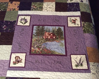 Lady Slipper Lodge Quilt