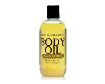 Body Oil: Black Licorice