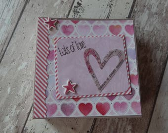 "Mini album ""love"" Gr. 15 x 15 cm"