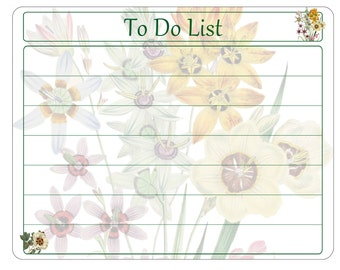 """Dry Erase White Message Board - To Do List - Floral Bouquet - 8"""" x 10"""", 11"""" x 14"""""""
