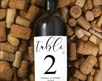 wedding wine labels/ table number labels/ table number stickers/ wedding table numbers/ wedding labels/ wedding stickers/ wine labels