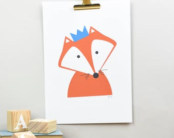 Nursery Children's Fox giclee print