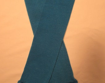 Leg Warmers  / Arm Warmers / Babylegs  - Bright Blue Solid with Neon Pink Tops - Dees Transformations