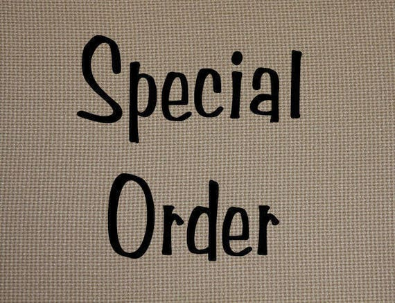 Special Order for Seth