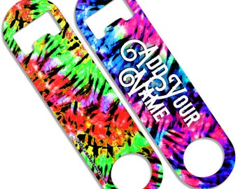 Tie Dye - CUSTOMIZABLE Skinny Mini Bottle Opener
