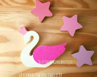Sparkle Swan Freestanding Shelfie