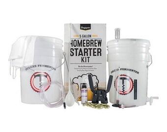 5 Gallon Homebrew Starter Kit Brewmaster DIY Home Beer Brewing Kit