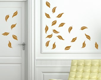 Fancy Fall Leaves, Autumn decor, Door decals for fall, Halloween window decals, holiday decals
