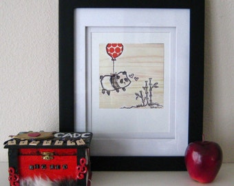 Flying Panda - 6x6 Print