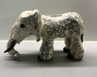 céramic raku Elephant